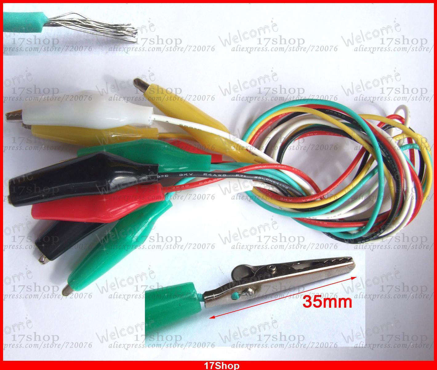 5PCS Color Test Alligator Clip TO Alligator Clips Test Probes 3Kv 150cm Cables<br><br>Aliexpress