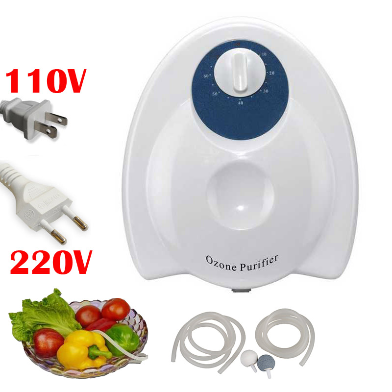 Portable 400mg/h 20W Fruit Food Ozone Generator Water Air Skin Sterilizer Purifier Ozonizer home Purification Massage - helen yuan's store