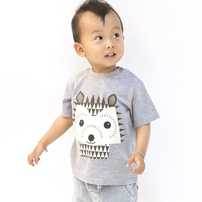 meninos 2015 Moomin infant tee shirts Summer style new 100% cotton roupas infantis menino gary short sleeve o-neck character(China (Mainland))