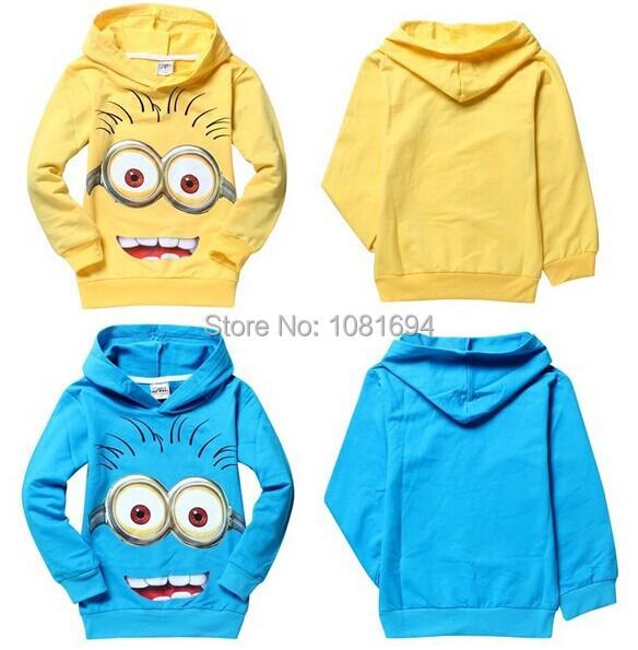 New 2015 despicable me 2 minion boys t shirts, girls nova t-shirts kids children t shirts Spring children hoodies Tops & Tees(China (Mainland))