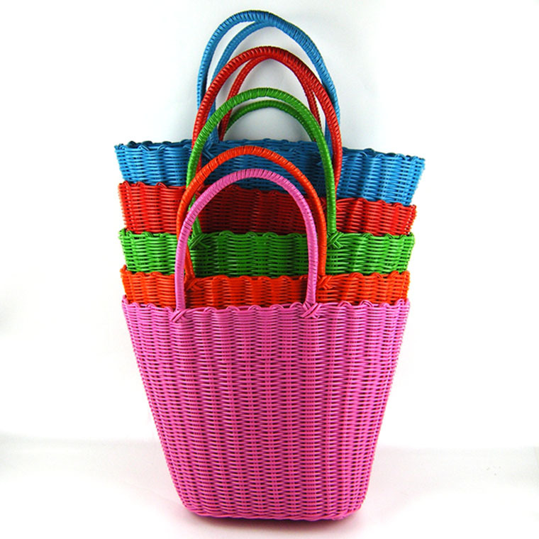 Straw bag The manufacturer direct wholesale best quality lowest price of pure shopping basket 27(China (Mainland))
