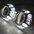 3 inch HID Bi Xenon Projector Lens For H1 Car Headlight with White Angel Eyes for