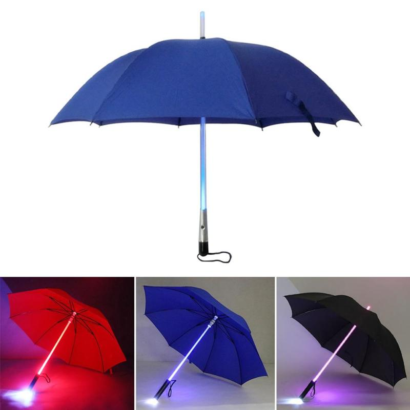 LED Umbrella Actor Kids Umbrella with Light LED Lights Outdoor Blue Red Black Rain Umbrellas Household Merchandises L50(China (Mainland))