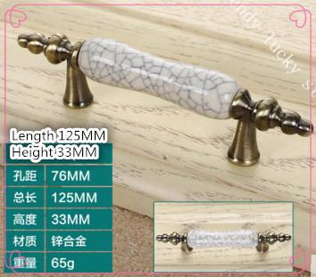 a12 European style crack ceramic handle cabinet furniture drawer wardrobe door antique bronze hardware handle(China (Mainland))