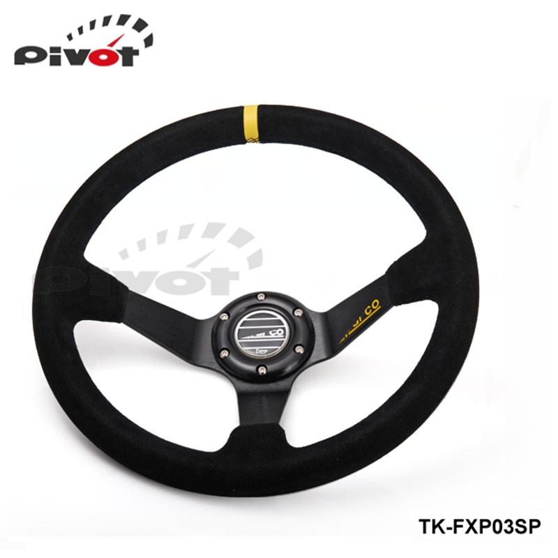 """Pivot - """" SP Car steering wheel refires steering wheel 14"""" 350MM automobile race steering wheel vehienlar -1"""" TK-FXP03SP(China (Mainland))"""