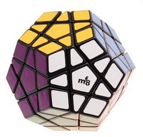 MF8 Megaminx V III 12-Color Sticker Magic Cube Black(China (Mainland))