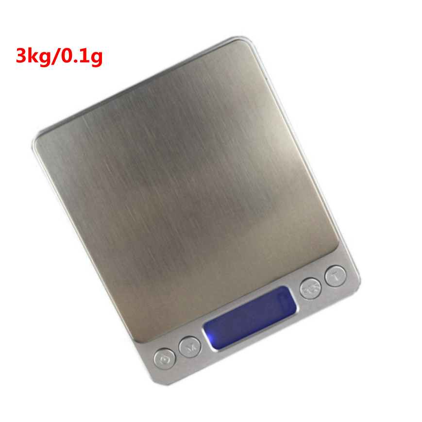 3kg/0.1g Digital LCD Pocket Scale Jewelry Scales 3000g/0.1g Kitchen Weight Scales with Blue Backlight 2 Trays Free Shipping(China (Mainland))
