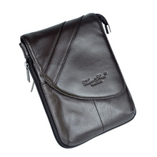 2016 genuine leather small messenger bags for men shoulder bag male waist bag cowhide new(China (Mainland))