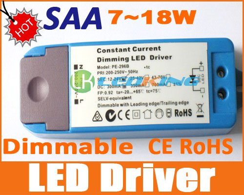 Dimmable Transformer for LED downlight Dimming Driver 7W to 18W light With SAA for Australia CE ROHS 2 years warranty(China (Mainland))