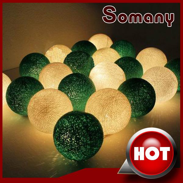 40pcs/2sets Green and White Lanterns Luminaria Decoration New Year's Holiday Lighting Mixed Colors Series Balls(China (Mainland))