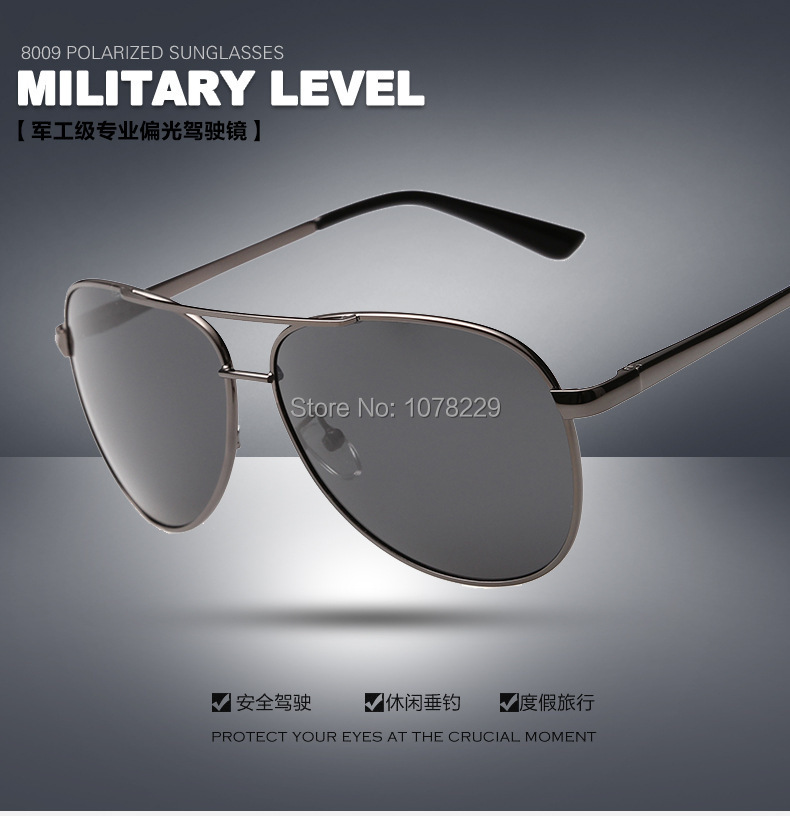 Fashion sunglasses men brand designer sunglasses polarized glasses lens sunglass men driving glasses polarized sun glass UV400(China (Mainland))