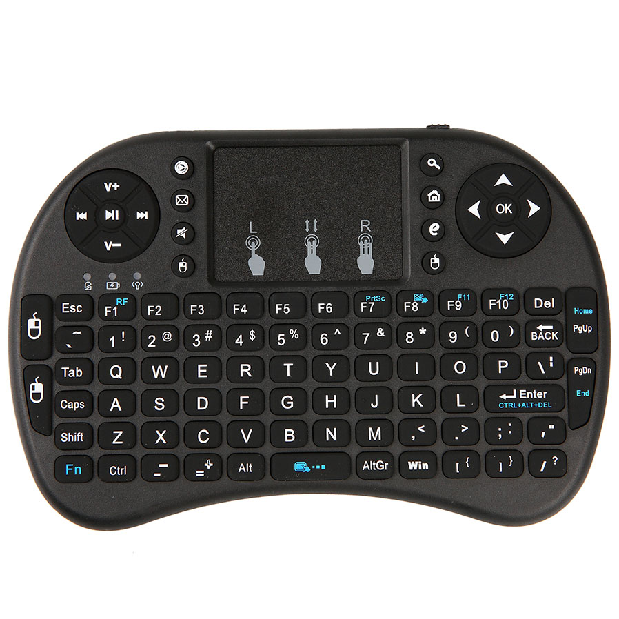 2.4G English Version Mini USB Wireless Keyboard Touchpad Air Mouse Fly Mouse Remote Control for Android Windows TV Box phone(China (Mainland))