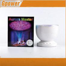 Aurora Master led-projektor mit mp3-lautsprecher usb ozeanwelle Projektionslampe mit lautsprecher und nachtlicht(China (Mainland))