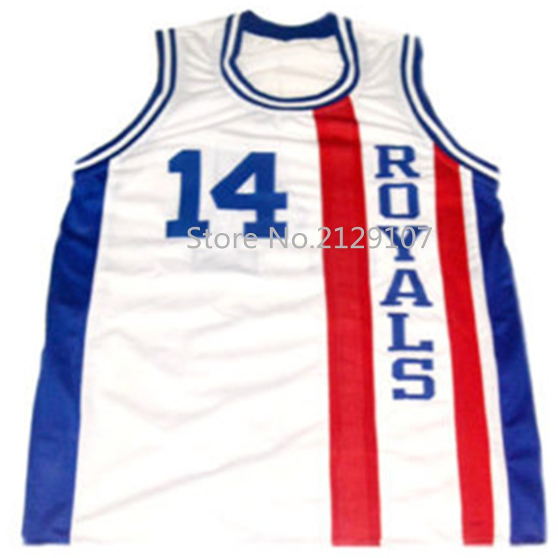 TEAM USA OSCAR ROBERTSON #14 CINCINNATI ROYALS Retro throwback Sport JERSEY Customize player name number of any size stitched(China (Mainland))