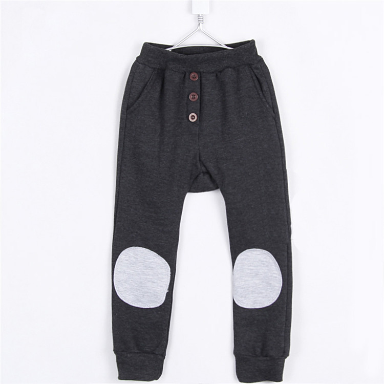 wholesales autumn and winter fashion patch boys harem pants kids trousers warm fleece long trousers A0099 5pcs/lot(China (Mainland))