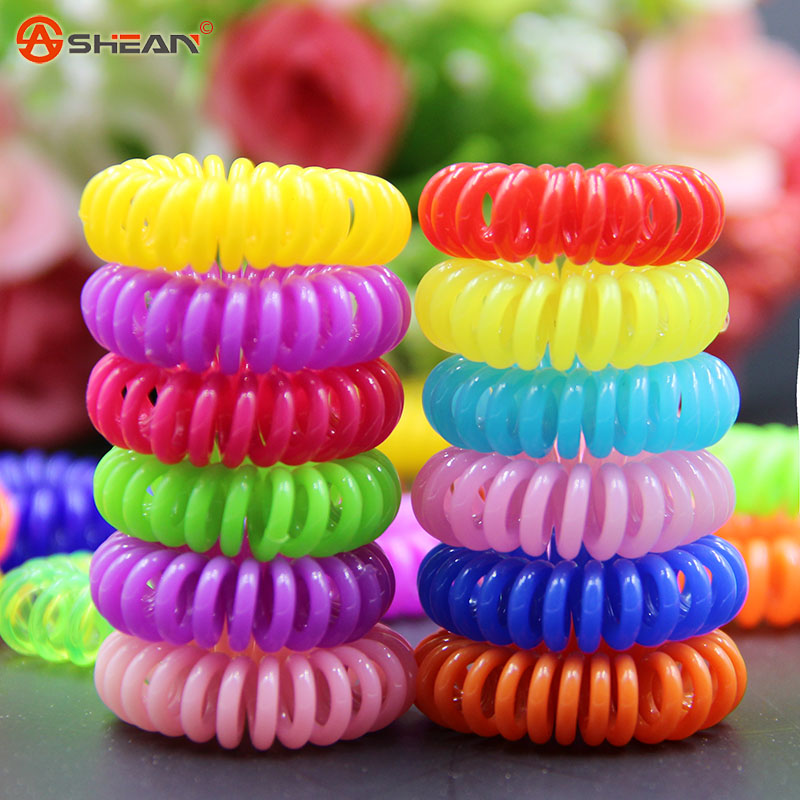 Women Headband 10 pcs Telephone Cord Elastic Ponytail Holders Hair Ring Scrunchies For Girl Rubber Band Tie(China (Mainland))