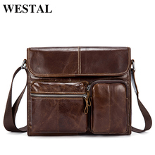 Buy WESTAL Genuine Leather Bag Men Messenger Bags Fashion Small Shoulder Crossbody Bags Men's Leather Bag Casual Small Flap for $28.34 in AliExpress store