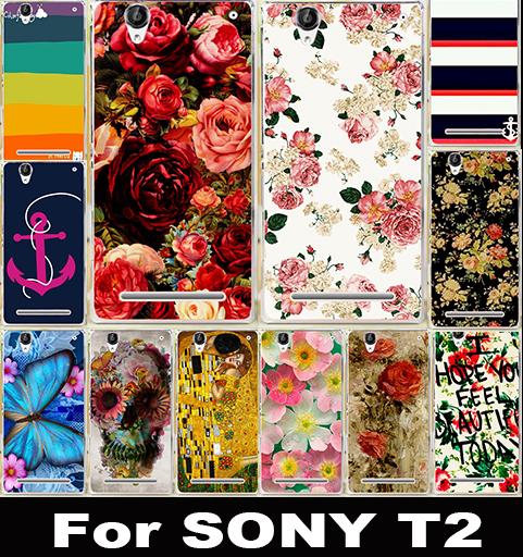 Гаджет  1 PCS Luxury Cartoon Pattern Cell Phone Case Cover For Sony Xperia T2 Ultra Dual D5322 D5303 XM50h Cases Hard Shell Back Cover None Телефоны и Телекоммуникации