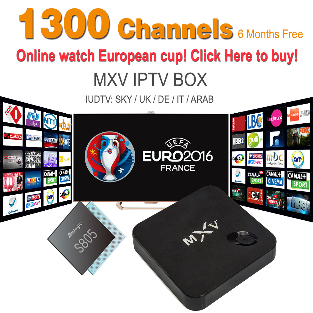 Smart Iptv Box MXV With IPTV Apk IUDTV Full Europe Sport Max 1 Max 2 Iptv Channels Android 4.4 1G/8G S805 Android Set Top Box