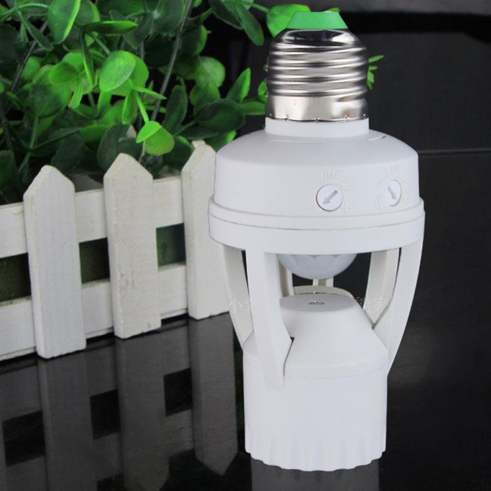 AC 110-220V 360 Degrees PIR Induction Motion Sensor IR infrared Human E27 Plug Socket Switch Base Led Bulb light Lamp Holder(China (Mainland))