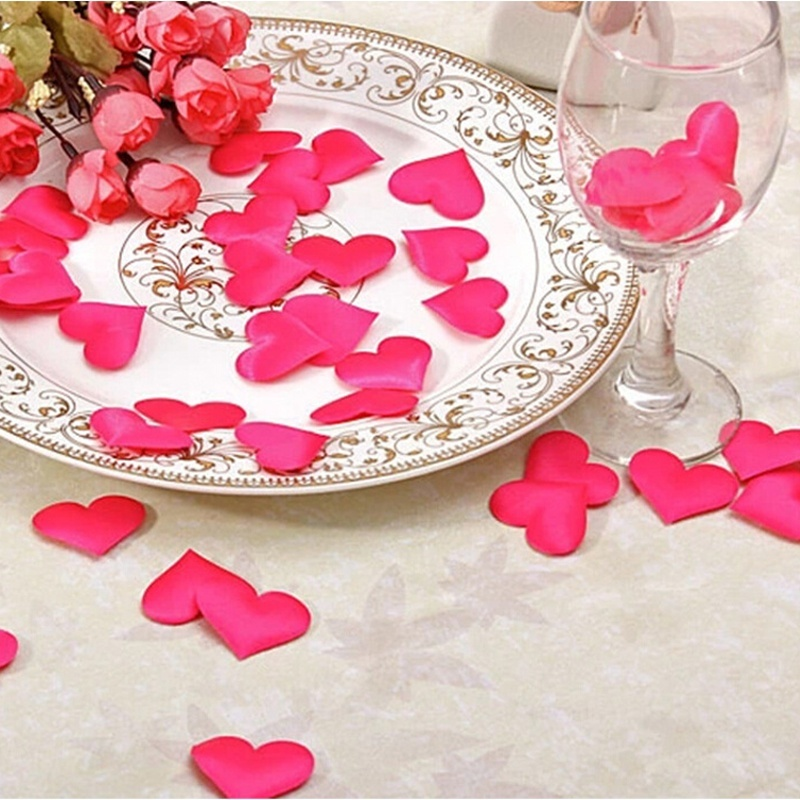 100pcs/bag 3.2*2.5cm Heart Shape Decoration Throwing Heart petals Wedding Table Decor Valentines Day Party Supply(China (Mainland))