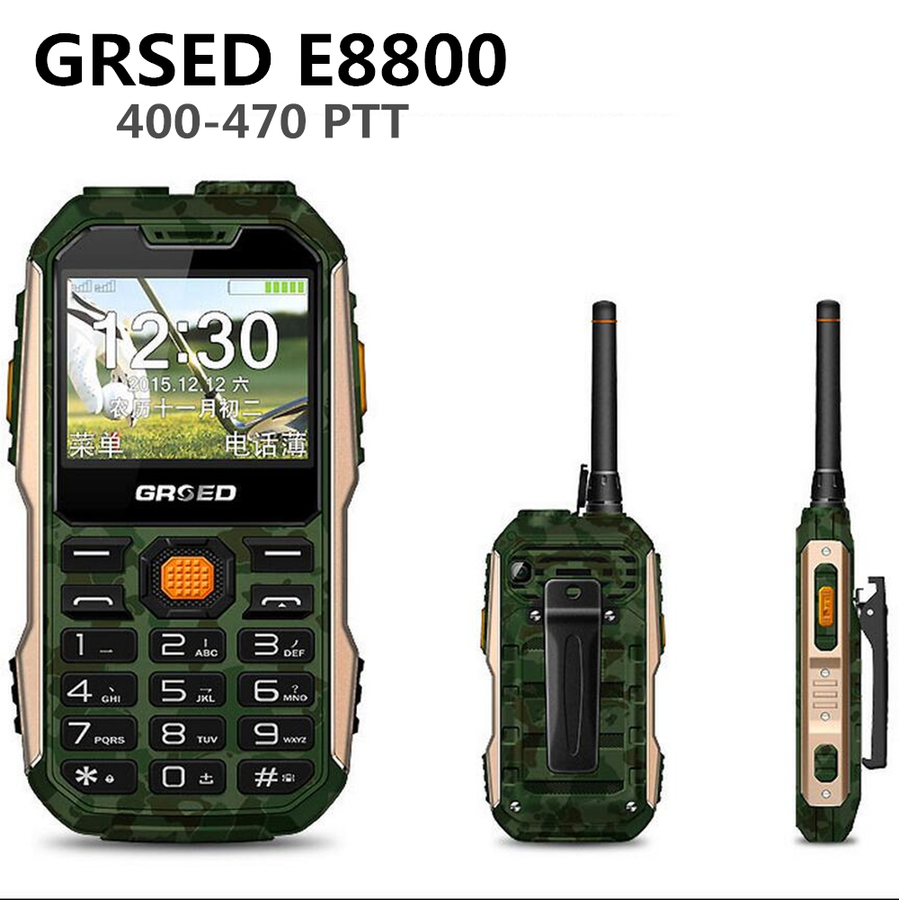 GRSED 8800mAH E8800 Walkie talkie Waterproof IP67 Shockproof Dustproof phone PTT 8800mAH Big Battery Torch Dual SIM Phone a12(China (Mainland))