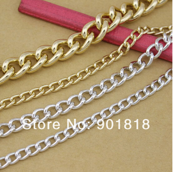 2 Meters/lot 8*10.5mm For Each Ring Jewelry Findings silver Aluminum Chain F807-3(China (Mainland))