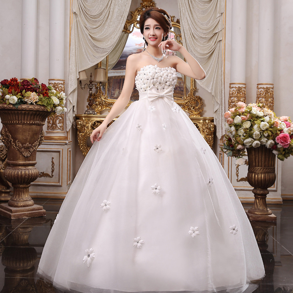 2016 white lovely court style good big size pregnant women for Wedding dress big size