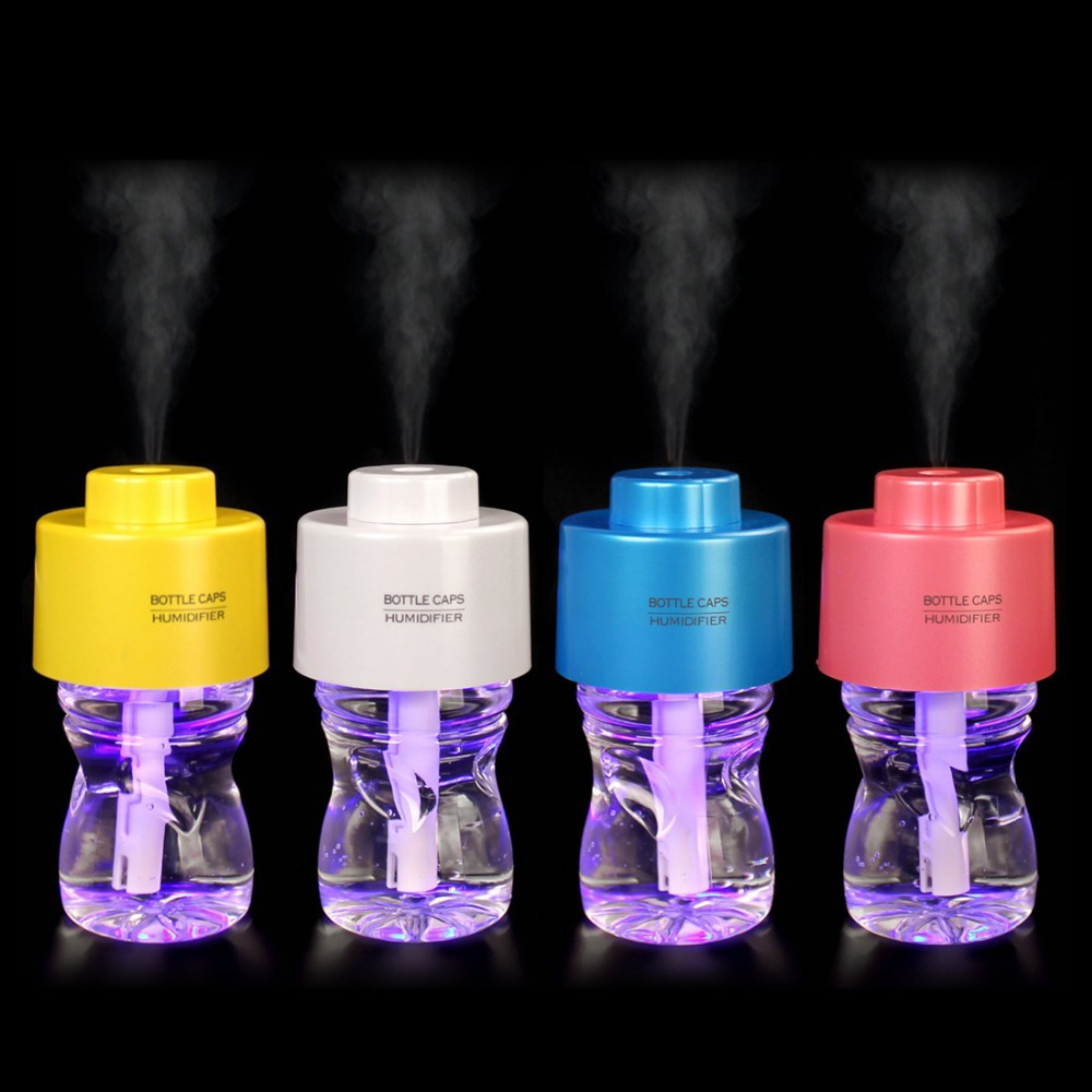 40ml H USB Water Bottle Cap Air Humidifier Mist Maker Electric Aroma Oil Diffuser for Home