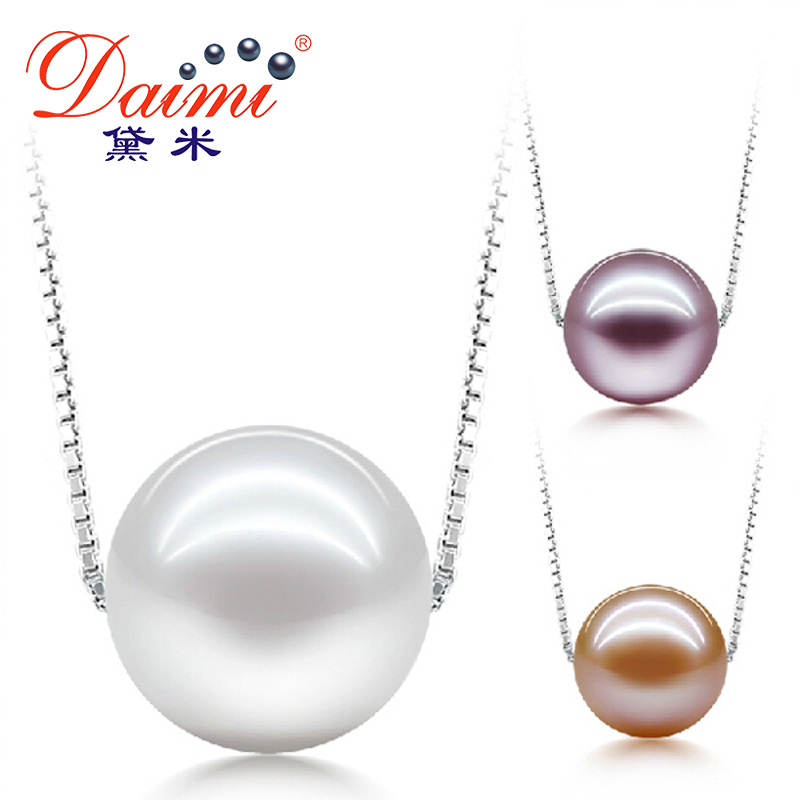 DAIMI Hight Quality Pearl Pendant Necklace For Girl 925 Silver &amp;6-7MM Natural Pearl Choker Necklace Hot Sale On Aliexpress JANE <br><br>Aliexpress
