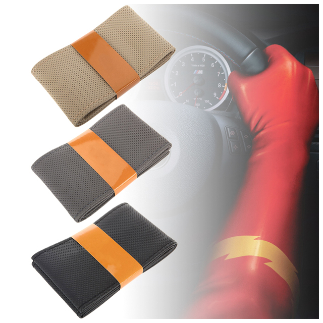high wearable microfibre fiber steering wheel cover Breathable steering-wheel classic sport steering wheel DIY soft car steering