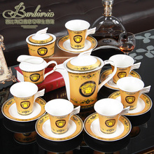 15 pieces Continental English bone china tea set coffee cup and saucer ceramic tea sets wedding housewarming gifts free shipping