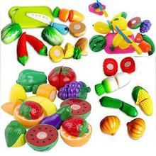 2015 New Fashion Funny Cutting Fruit Vegetable Pretend Toys children Kitchen Toys Colorful Toys for Kids(China (Mainland))