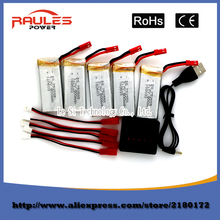Free Shipping 3.7v 800mAh lithium battery For H12C H12 V636 V686 V686G V686J V686K JXD 509G 509V 2.4Gh RC Quadcopter Drone