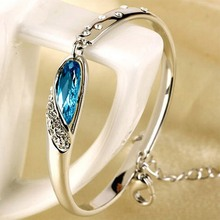 Hot Sale Women Crystal Bracelet Vintage 925 Silver Bracelet in Jewelry Romantic Gift