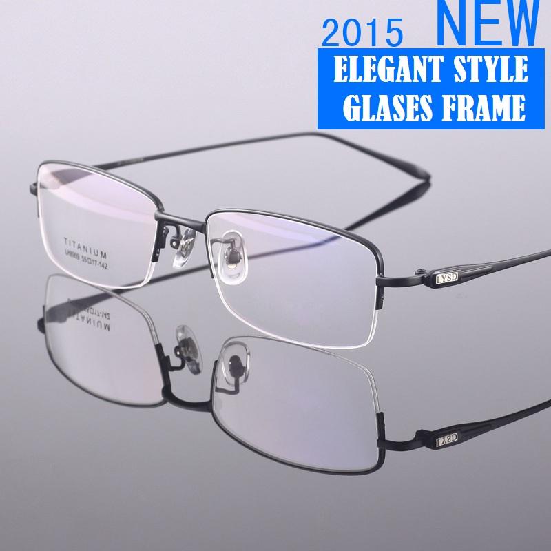 Top Qualtiy Ultra Light Gafas Fashion Gold Optical Frame Titanium Prescription Glasses Frames Men(China (Mainland))