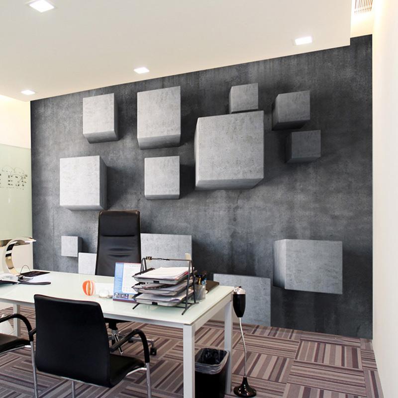 Custom High Quatliy Photo Wallpaper Retro Box 3D Stereo Living Room Mural Wallpaper Seamless Backdrop 3D Mural Wallpaper Roll