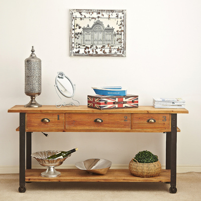 American Furniture Ironwood Three Long Tables Console