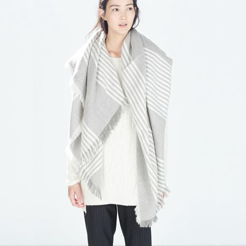 2016 оригинал бренд-а пашмины шарфы для женщин серая полоса одеяло шарф дизайнер высокое качество зима теплая шаль горячая распродажа