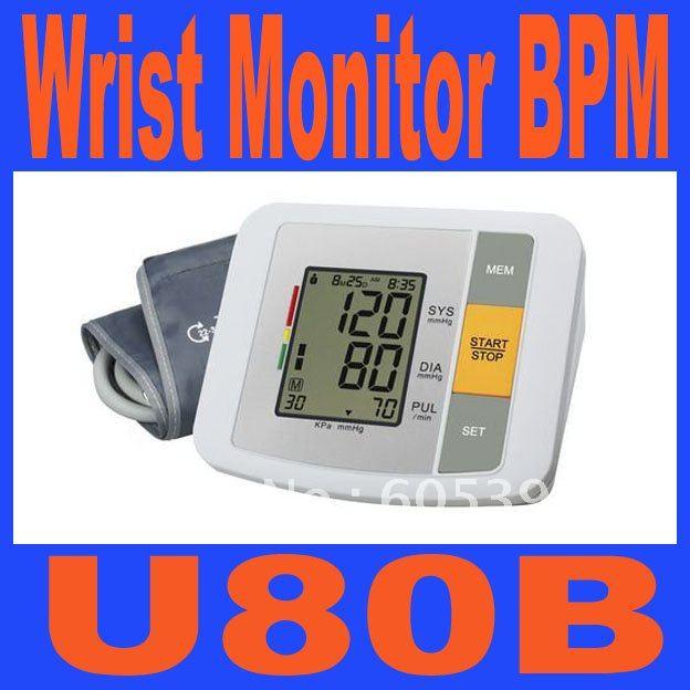 Здесь можно купить  U80B LCD Digital Display Fully Automatic Wrist Monitor BPM Measuring Blood Pressure blood-pressure meter Free shipping  Красота и здоровье
