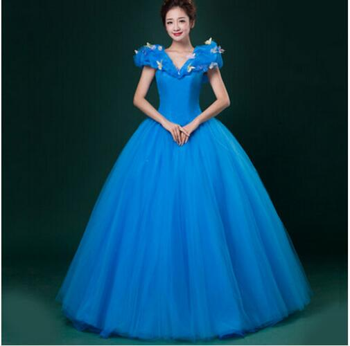 New 2016 Custom Made Women Halloween Cosplay Adult Princess Cinderella Costume Sexy Adult Cinderella Costume