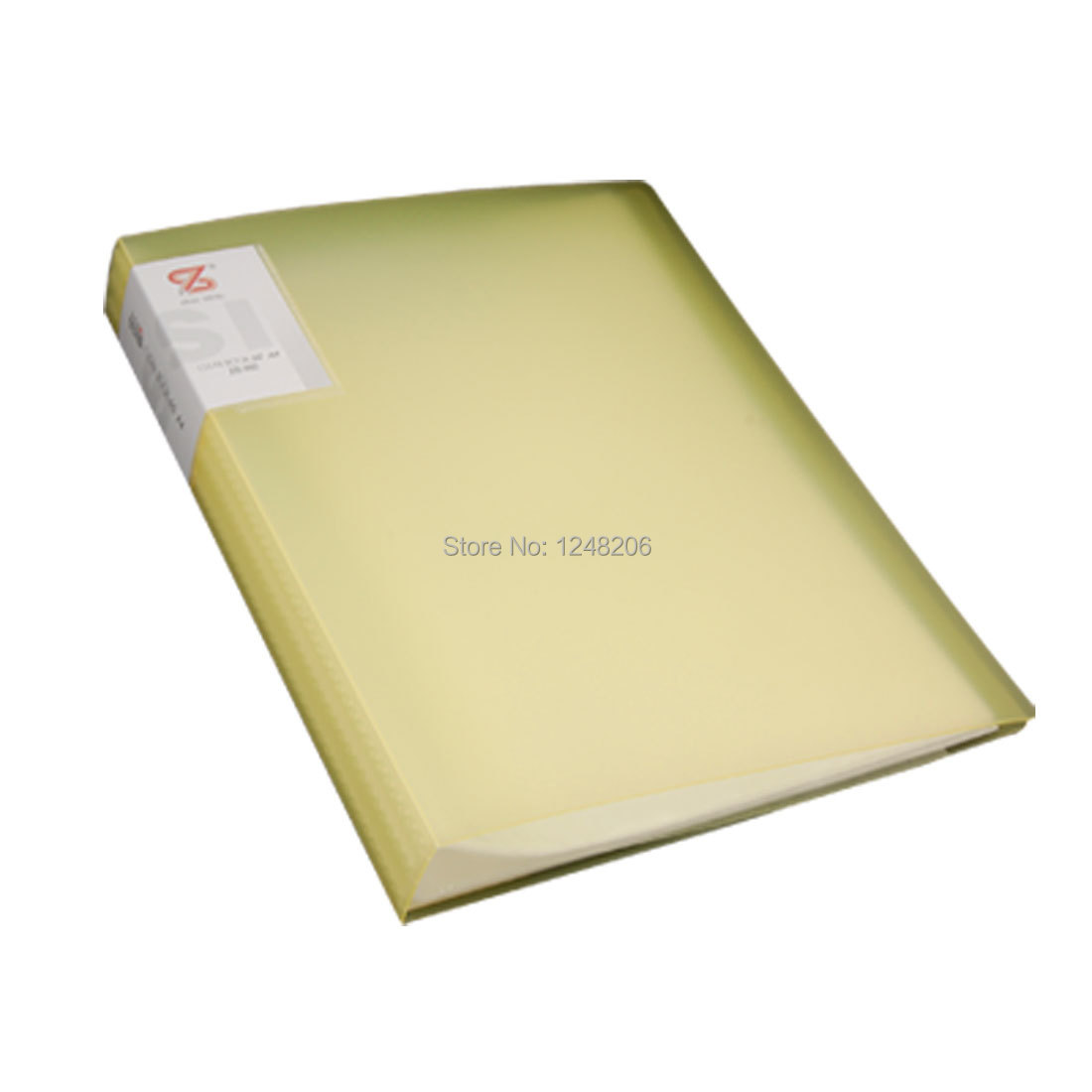 Yellow Polypropylene Size A4 60 Pockets Clear Book File Office School(China (Mainland))