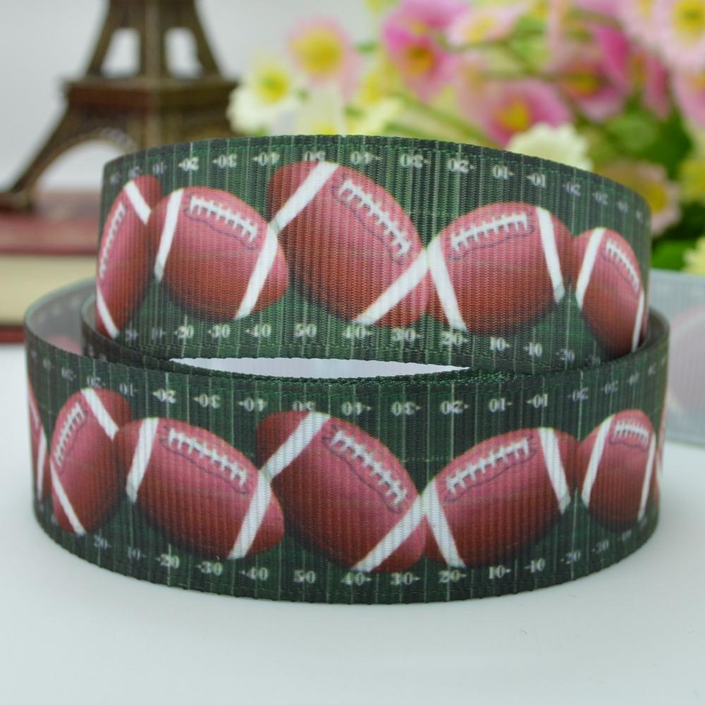 """Football turf sports ribbed with hair accessories bow materials 22mm print grosgrain ribbon 7/8"""" clothing accessories customized(China (Mainland))"""