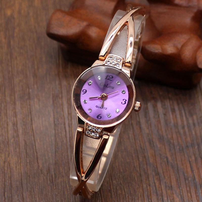 Тонкий браслет часы ювелирные изделия для женщин дамы девушки наручные часы