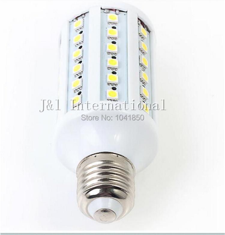 Free Shipping SMD5050 10W E27 60pcs LEDs 1000LM AC85-265V White/ Warm White Corn Light LED Bulb Light Brightness(China (Mainland))