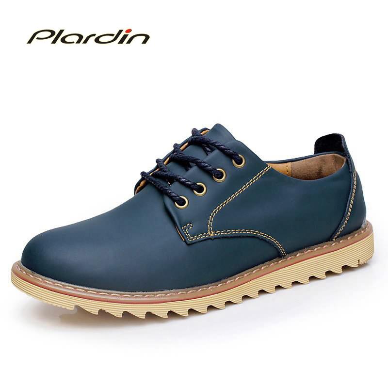 2016 Men Casual Shoes Fashion Flat Oxfords Cool Autumn Genuine Leather Platform Shoes Men Lace Up Dress Breathable Leisure Shoes<br><br>Aliexpress