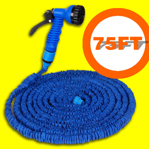 Free Shipping Garden Hose After Stretched hose watering 75FT hose Blue Magic Expandable Garden Water Hose+Spray Gun(China (Mainland))