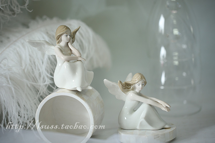 2015 new Exports of fine ceramic angel ornaments crafts new home decoration 9951 model club(China (Mainland))