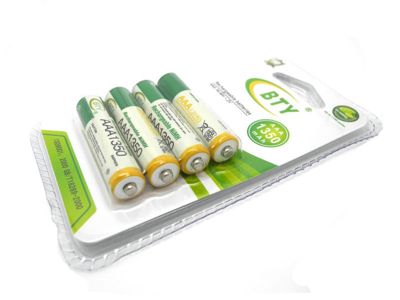 1 packs BTY 1.2V 1350mAh Rechargeable AAA Battery NI-MH Rechargeable Battery Hot Selling(China (Mainland))