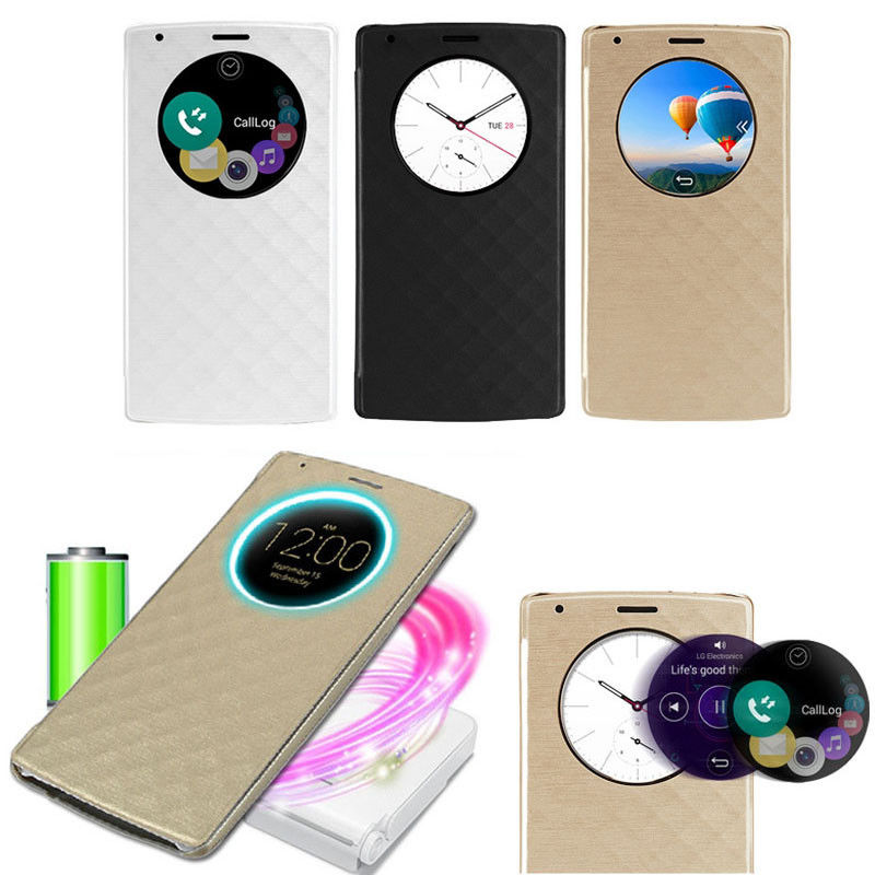 Qi Wireless Quick Circle Charging Snap On Flip Case Cover Shell For LG G4 BC472(China (Mainland))